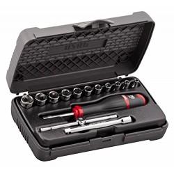 "Zestaw kluczy nasadowych USAG 603N 1/4"" E"